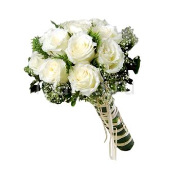 Букет невесты из зеленых гвоздик купить спб #5
